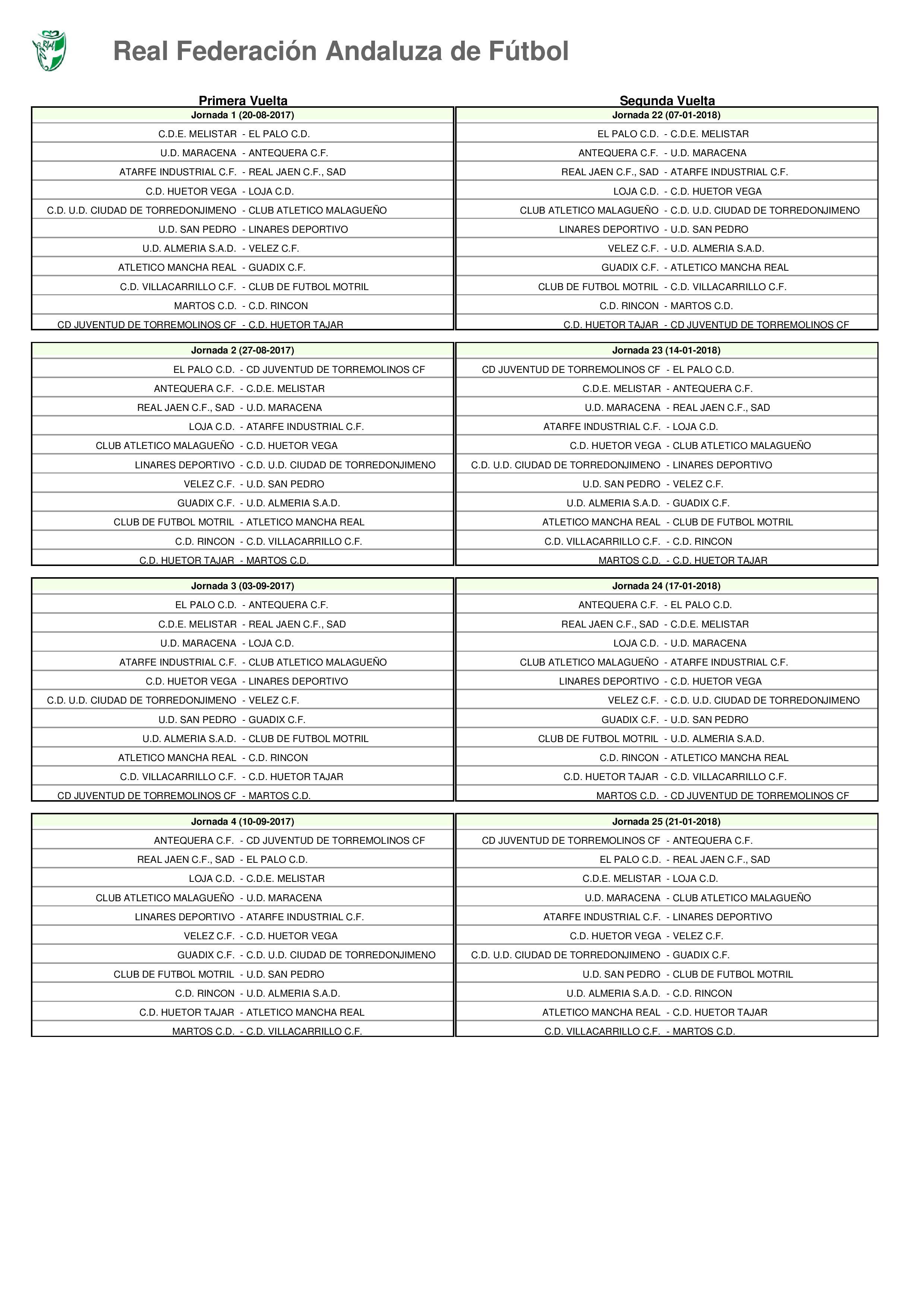 Calendario | Vélez C.F.