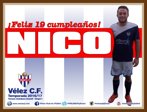 Feliz cumpleaños Nico