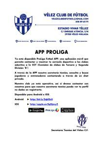 app proliga COMUNICADO OFICIAL 95 2