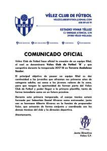 COMUNICADO OFICIAL 95 - Filial