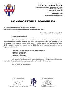 CONVOCATORIA ASAMBLEA 2017