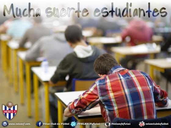 Mucha suerte estudiantes