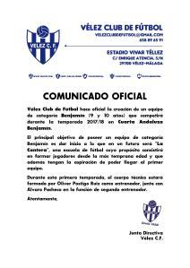 COMUNICADO OFICIAL 95 - Benjamín