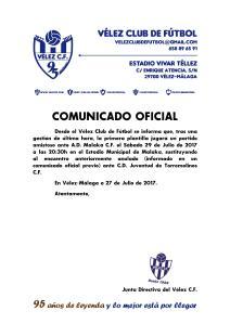 COMUNICADO OFICIAL 95 Malaka