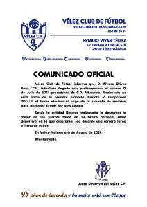 COMUNICADO OFICIAL 95 Oli