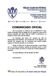 COMUNICADO OFICIAL 95 - Baja de Juan Carlos wp
