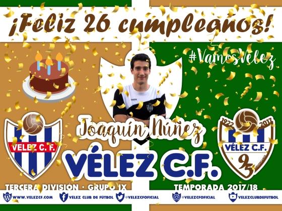 Feliz cumpleaños Vélez Joaquín TERCERA 95