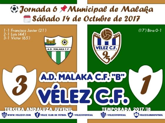 vs malaka b j6 Resultado JUVENIL 95 Liga