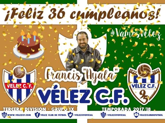 Feliz cumpleaños Vélez Francis Ayala TERCERA 95