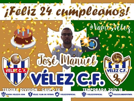 Feliz cumpleaños Vélez José Manuel TERCERA 95