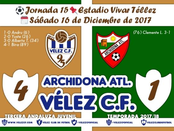 vs archidona j15 Resultado JUVENIL 95 Liga