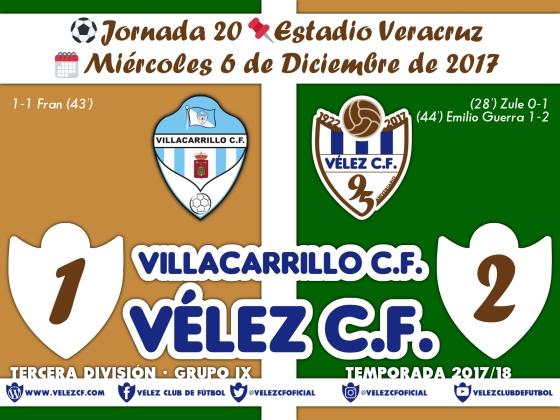 vs villacarrillo j20 Resultado TERCERA 95 Liga