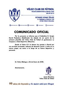 COMUNICADO OFICIAL 95 - Baja de Podadera