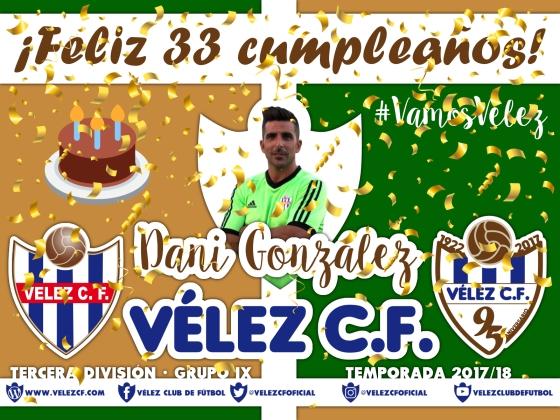 Feliz cumpleaños Vélez Dani González TERCERA 95