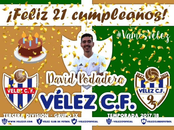 Feliz cumpleaños Vélez David Podadera TERCERA 95