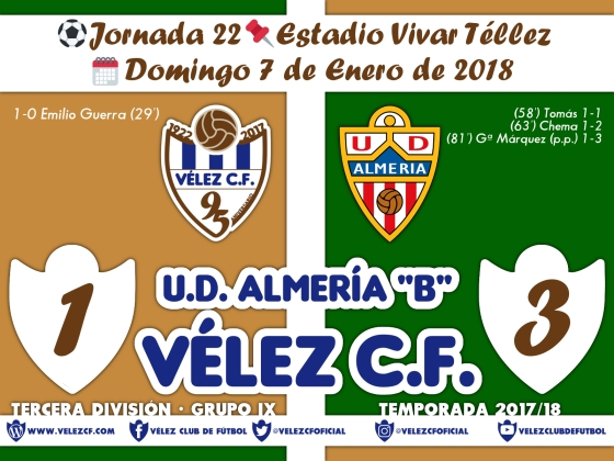 vs almeria j22 Resultado TERCERA 95 Liga