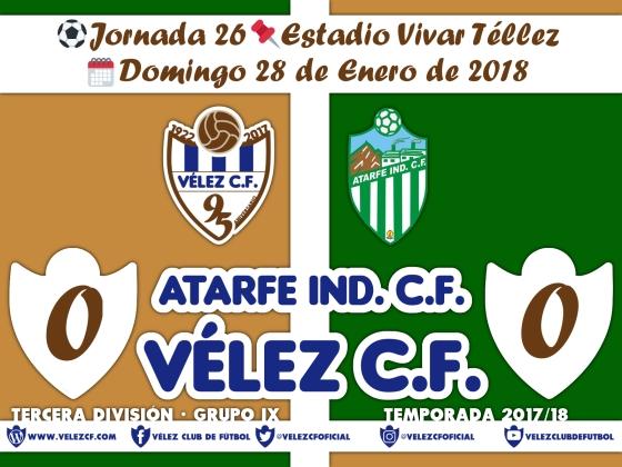 vs atarfe j26 Resultado TERCERA 95 Liga