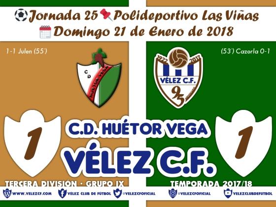 vs huetor vega j25 Resultado TERCERA 95 Liga