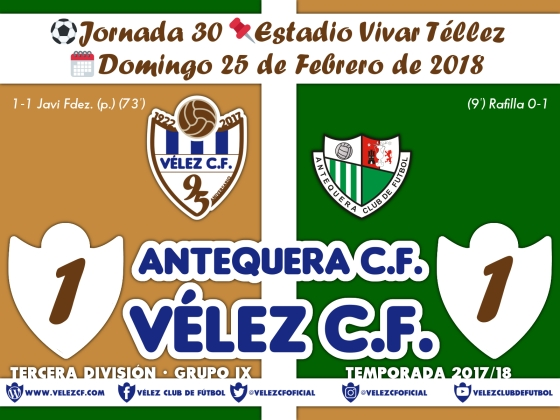 vs antequera j30 Resultado TERCERA 95 Liga