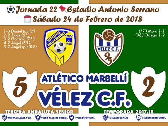 vs marbelli j22 Resultado FILIAL 95 Liga