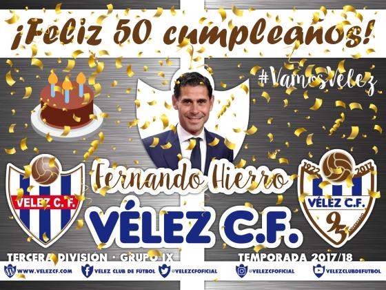 Feliz cumpleaños Vélez Hierro TERCERA 95