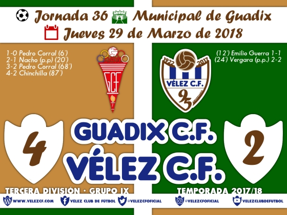 vs guadix j36 Resultado TERCERA 95 Liga