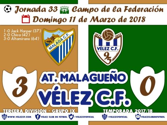 vs malagueño j33 Resultado TERCERA 95 Liga