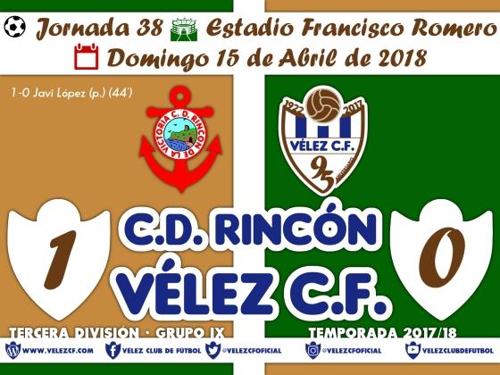 vs rincon j38 Resultado TERCERA 95 Liga