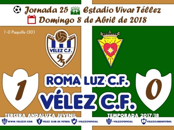 vs roma j25 Resultado JUVENIL 95 Liga