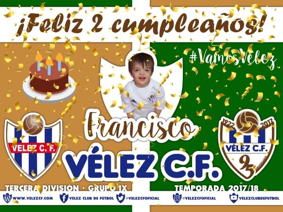 Feliz cumpleaños Vélez Francisco TERCERA 95