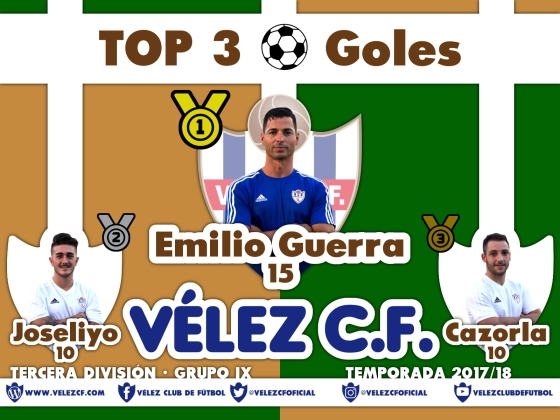 TOP 3 TERCERA 95 goles