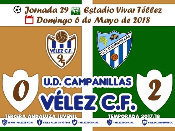 vs campanillas j29 Resultado JUVENIL 95 Liga