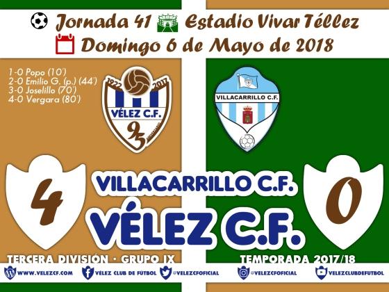 vs villacarrillo j41 Resultado TERCERA 95 Liga