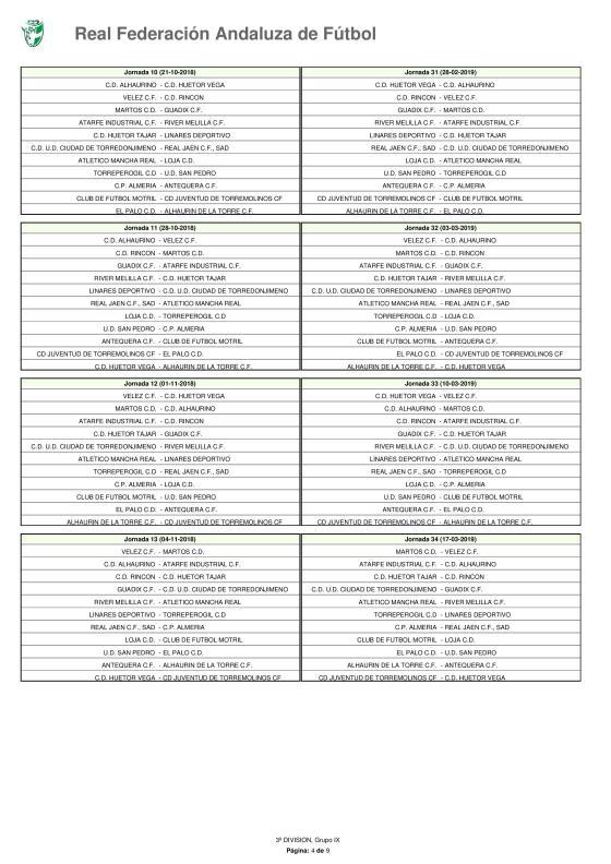 Calendario · Tercera División · Grupo IX · 2018-19-page-004