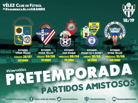 PRETEMPORADA partidos amistosos VELEZ CF K